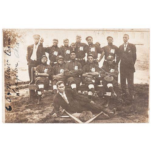 Colored Agricultural and Normal University Baseball Team, Langston, Oklahoma, circa 1910