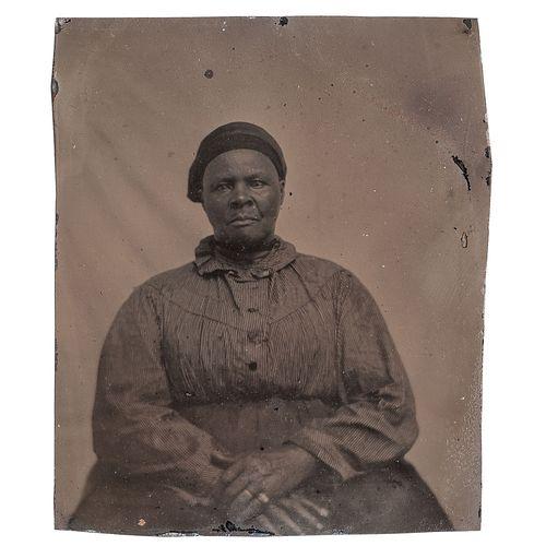"Tintype of ""Stagecoach Mary,"" Montana, circa 1880"