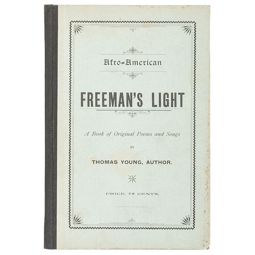 Very Scarce Book of Poetry and Music by Formerly Illiterate Author Thomas Young, 1897