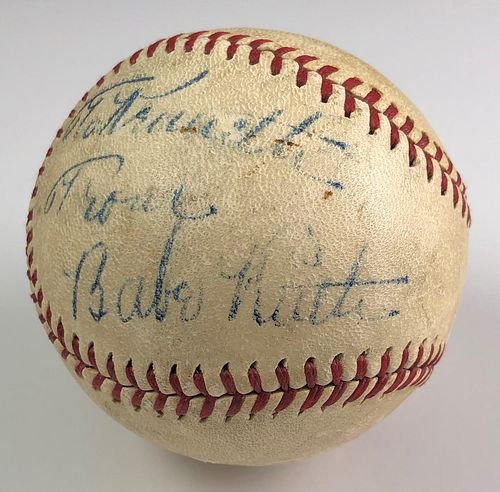 BABE RUTH Signed Baseball PSA/DNA