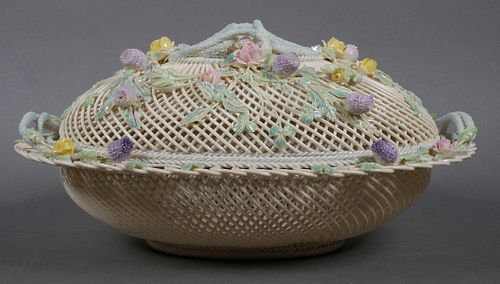 BELLEEK Masterpiece Collection Lidded Basket