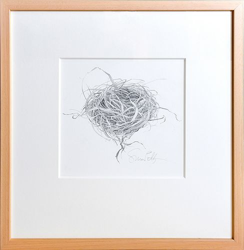 SUSAN PETTY, Untitled (Nest), Graphite on paper