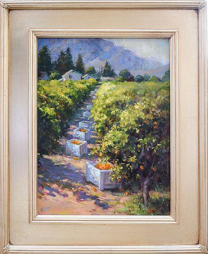 "BEVERLY LAZOR, ""Oranges,"" Oil on panel"