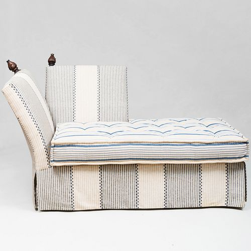 Pair of Knoll Style Upholstered Chaise Lounges