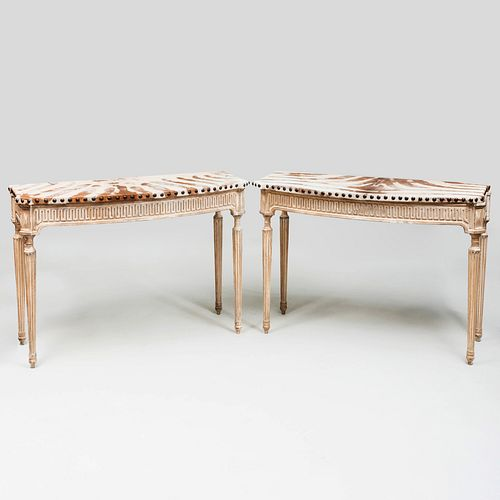 Pair of Neoclassical Style Painted Consoles