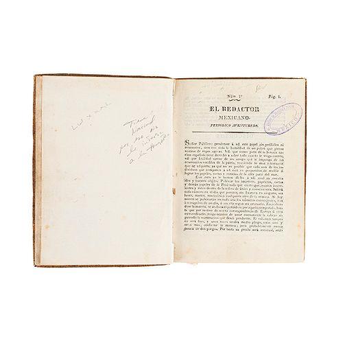 El Redactor Mexicano. Periódico Aventurero. México: Imprenta de D. José María de Benavente, 1814 - 1815. Números 1-29.