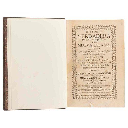 Díaz del Castillo, Bernal. Historia Verdadera de la Conquista de la Nueva-españa. Madrid, 1632. Segunda edición.