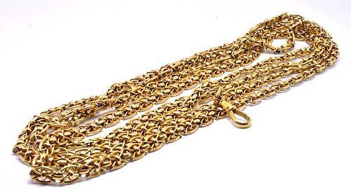 C1900 18K Fancy Link Watch Chain