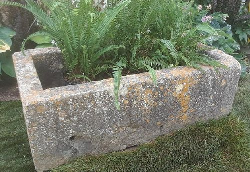 19th Century French Carved Limestone Trough