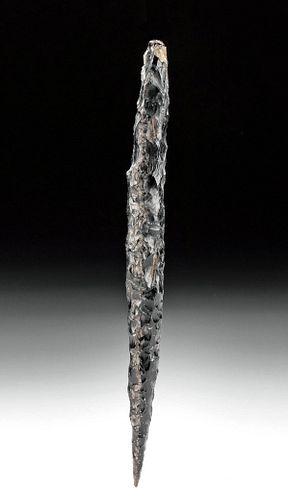 Colima Obsidian Spear Head