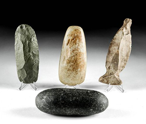 Lot of 4 Native American Woodland Stone Tools