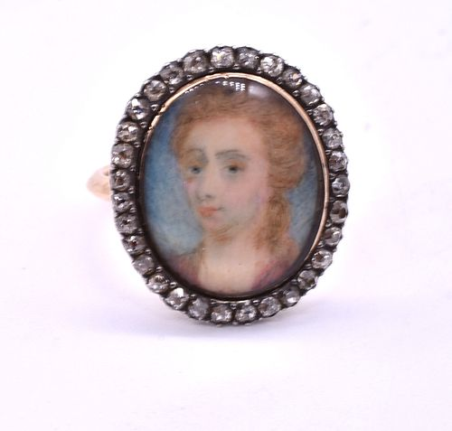 Portrait Ring of Sarah Churchill, c1750