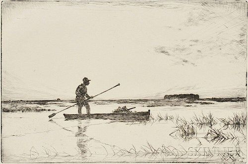 Frank Weston Benson (American, 1862-1951)      The Punter