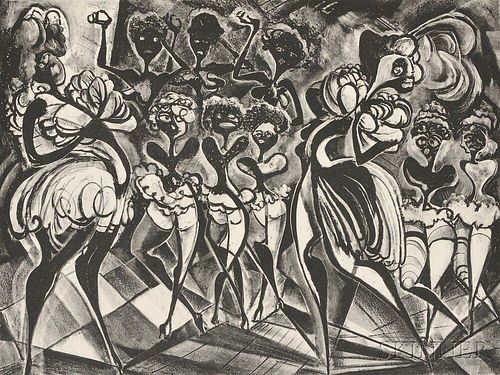 Adolf Arthur Dehn (American, 1895-1968)      Black and White Ballet