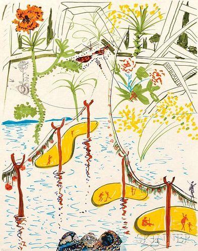 Salvador Dalí (Spanish, 1904-1989)      Biological Garden