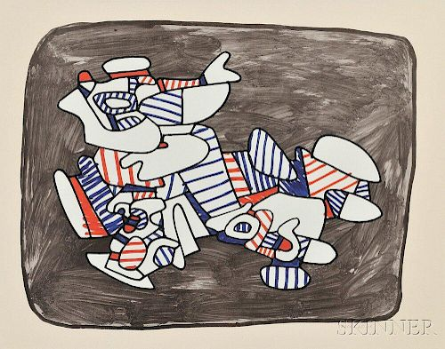 Jean Dubuffet (French, 1901-1985)      Lion heraldique