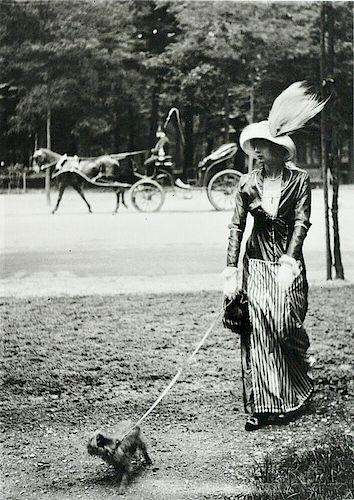 Jacques-Henri Lartigue (French, 1894-1986)      Mary Lancret Along the Bois de Boulogne