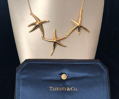 Tiffany & Co. Elsa Peretti 18k Gold Tri-Starfish Necklace