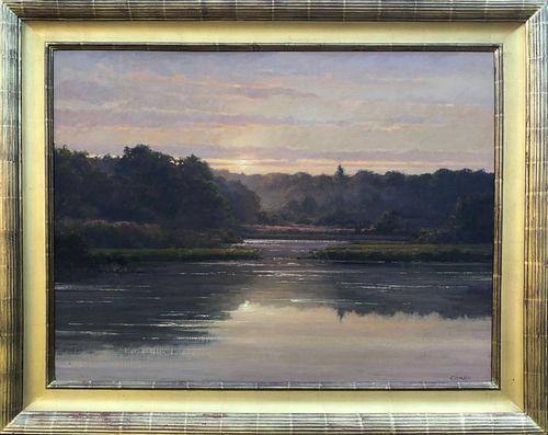"Frank Corso Oil on Board ""Misty Morning"""