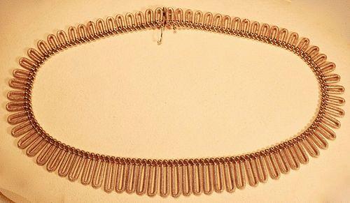 14k Collar Necklace