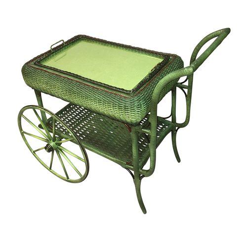 A French Green Tea Trolley /Bar Cart