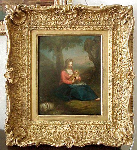 Old Master Madonna & Child, Balthazar Beschey, attrb , Flemish