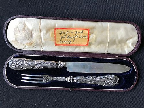 English Sterling Serving Set Knife and Fork