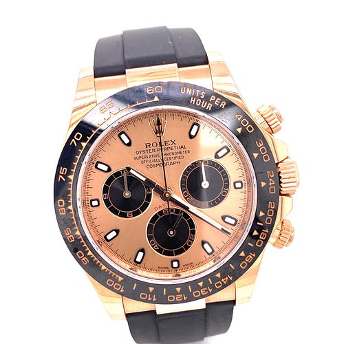 ROLEX DAYTONA CERAMIC Pink Gold Watch