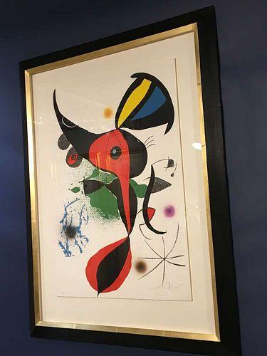 """Joan Miró: """"Oda a Joan Miró"""", Plate 2. Original lithograph, 1973."""