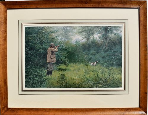 A. B.  Frost Framed Shooting print