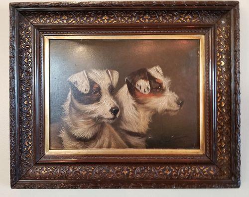 Oil on board. Alfred Wheeler (1851-1932) original restored frame.