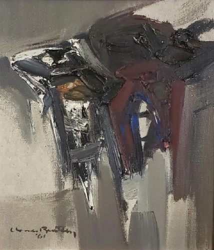 Oil on canvas by Claude Bentley - signed and dated 1961