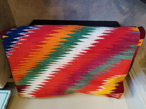 Midcentury Navajo weaving - Great size, color and condition