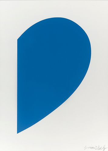 ELLSWORTH KELLY - Small Blue Curve, 2012