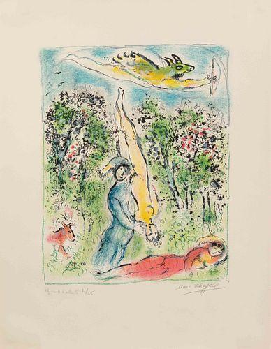 Marc Chagall (French/Russian, 1887-1985) Nous habitons parmi les fleurs... (from Sur la terre des Dieux), 1967