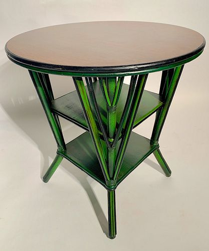 Art Deco Rattan Center Table