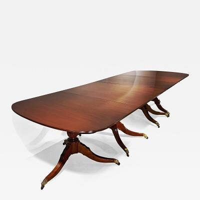 Four Pedestal English Dining Table