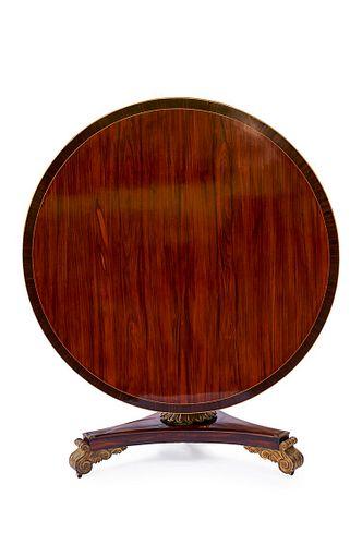 Regency Rosewood Pedestal Table