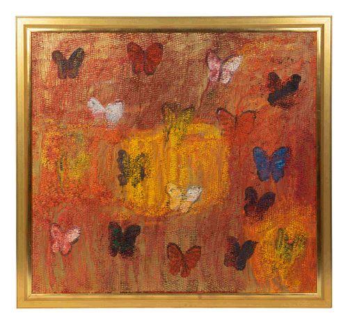 Hunt Slonem (American, b. 1951) Red Butterflies, 2010