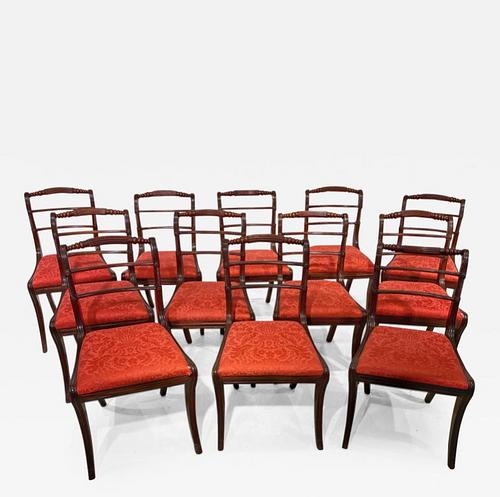 Set of Twelve Regency Dining Chairs