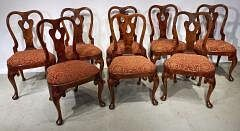 Set of eight Period Queen Anne Dining Chairs