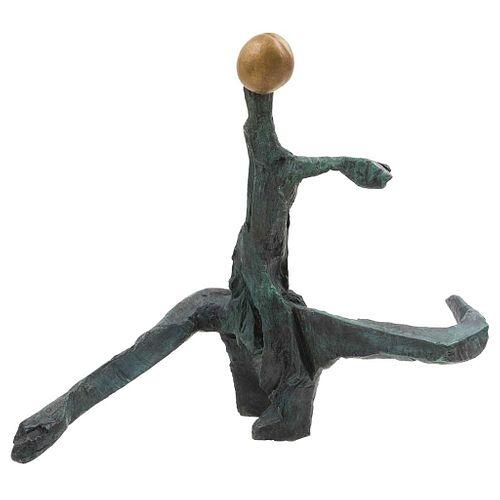 "EMILIANO GIRONELLA PARRA, Bailarín, 2020, Unsigned, Bronze sculpture, 29.9 x 36.8 x 17.9"" (76 x 93.5 x 45.5 cm), Certificate"
