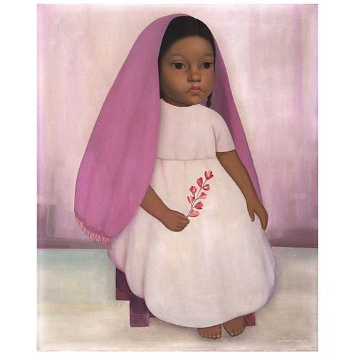 "GUSTAVO MONTOYA, Untitled, from the series Niños Mexicanos, Signed, Oil on canvas, 21.7 x 17.9"" (55.3 x 45.5 cm)"