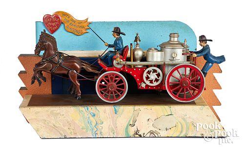 Baranger Studios animated fireman store display