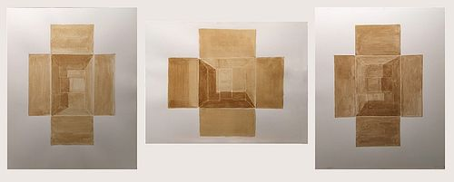 Kevin Hogan, Empty Cardboard Boxes tryptich