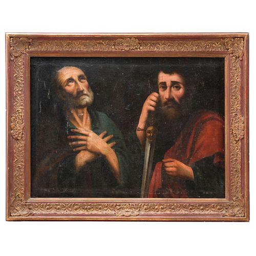 SAN JERÓNIMO PENITENTE SIGLO XIX  Óleo sobre tela Marco de madera tallada y dorada Detalles de conservación y restauración...