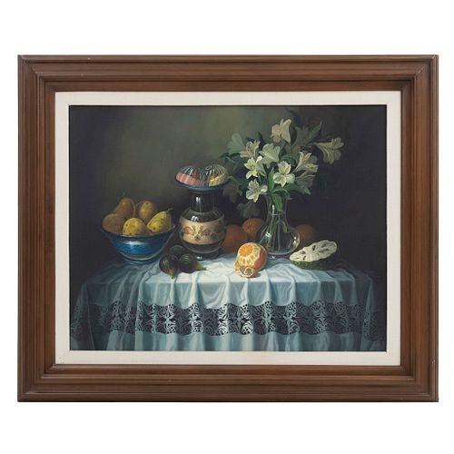 DANIEL OROZCO, Sin título, Firmado y fechado X-1998, Óleo sobre tela, 70 x 90 cm