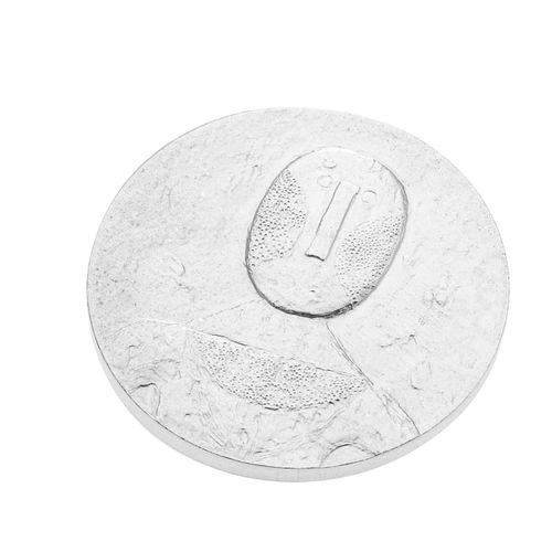 """Rufino Tamayo (Oaxaca de Juárez, México 1899-Ciudad de México, 1991) Medalla conmemorativa con su obra gráfica """"El hombre en ros..."""