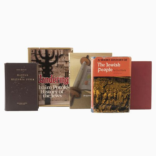 LIBROS SOBRE JUDAÍSMO. a) Arqueología y Toralogía. b) A Century of Jewish Life. c) A Short History of the Jewish People. Piezas: 5.