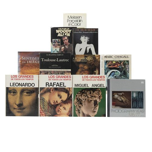 LIBROS SOBRE ARTE: CINE, FOTOGRAFÍA, PINTURA Y ESCULTURA. a) Of Women And Their Elegance. b) The Films of Woodt Allen. Pzs: 11.